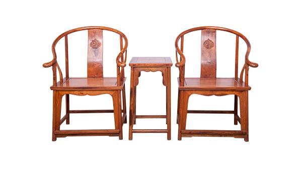 黄花梨圈椅三件套