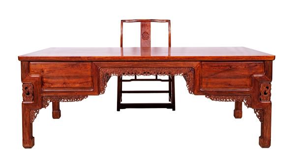 黄花梨办公桌