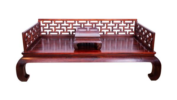 大红酸枝曲尺罗汉床